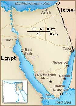 Scubatimobe Country Information Asia - Map of egypt dahab